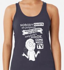 Rick and Morty Schwifty Wubba Lubba Fair Use Nobody Exists on Purpose Racerback Tank Top