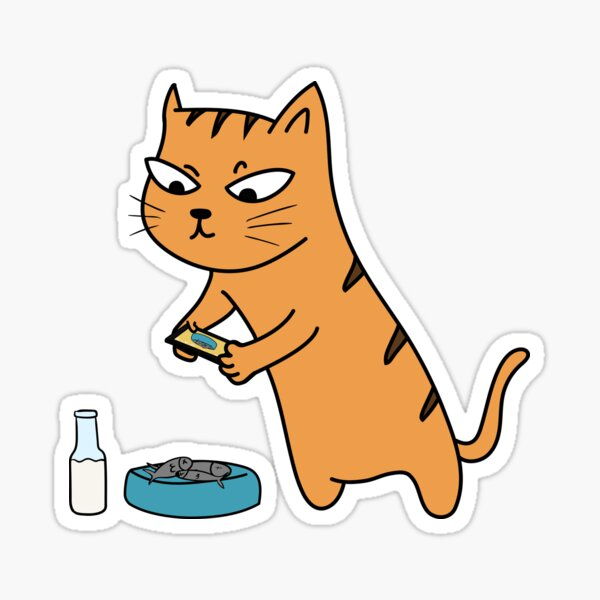 Foodie Cat Sticker