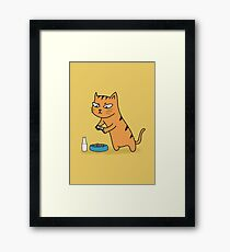 Foodie Cat Framed Print