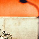 Bicycle and shadow by Silvia Ganora