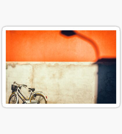 Bicycle and shadow Sticker