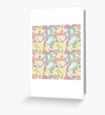 Abstract seamless pattern with floral silhouettes Greeting Card