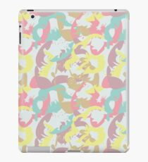 Abstract seamless pattern with floral silhouettes iPad Case/Skin