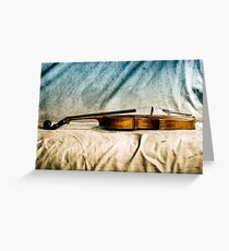 Violin in Repose  Greeting Card