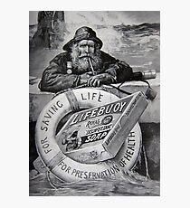 Lifebuoy disinfectant soap advert 1900 Photographic Print