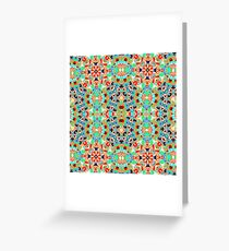 Crossing Colours Green Greeting Card