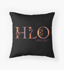 HLO logo 25th Anniversary  Throw Pillow