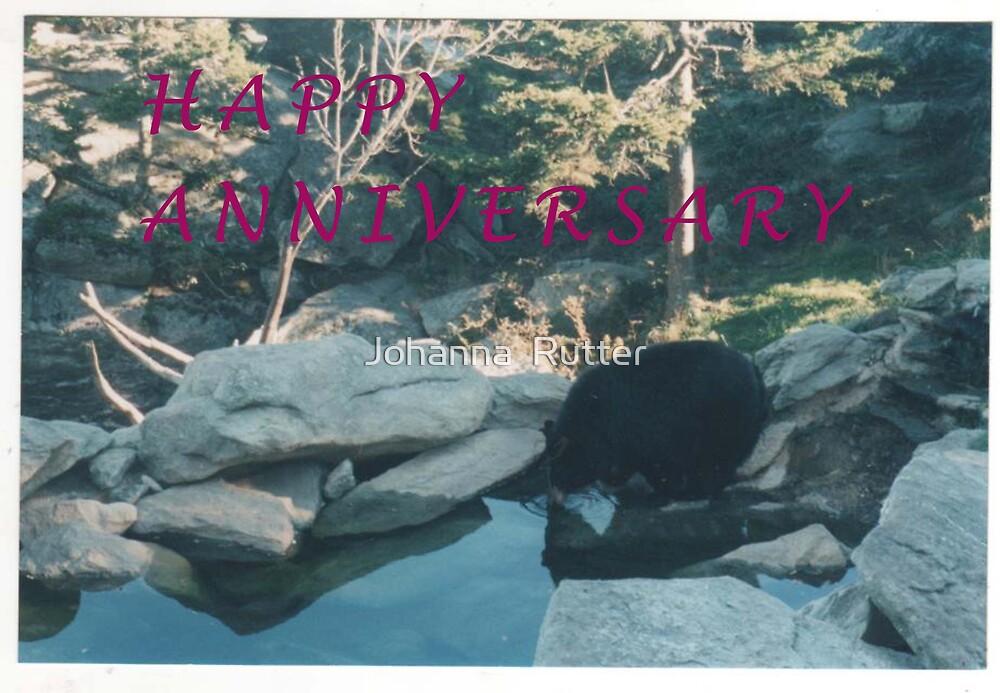 Happy anniversary bear by Johanna  Rutter
