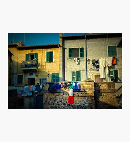 The flag needed washing... Photographic Print