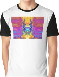 Abstract Ancient Golden Vase Tapestry Design Graphic T-Shirt