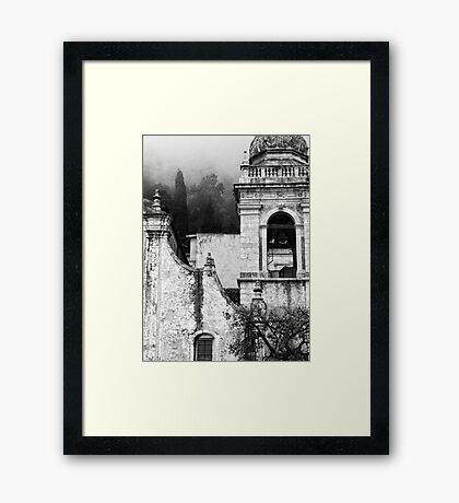 Taormina church detail Framed Print