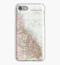 Vintage Map of Queensland  iPhone Case/Skin