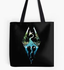 Skyrim - Dragonborn Logo Edit Tote Bag
