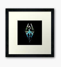 Skyrim - Dragonborn Logo Edit Framed Print