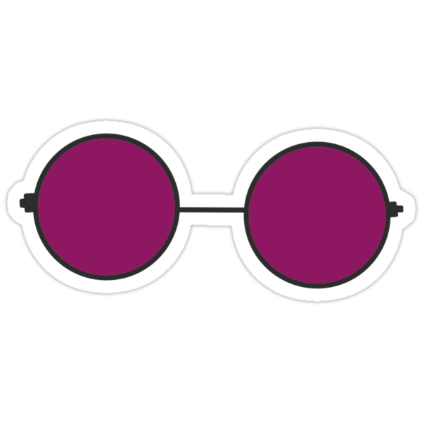 """""""Purple Snapchat Glasses """" Stickers by aprilconway   Redbubble"""