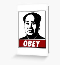 Mao Zedong Obey Greeting Card