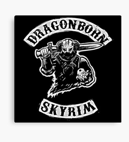 Skyrim - Sons of Anarchy Dragonborn Edit Canvas Print