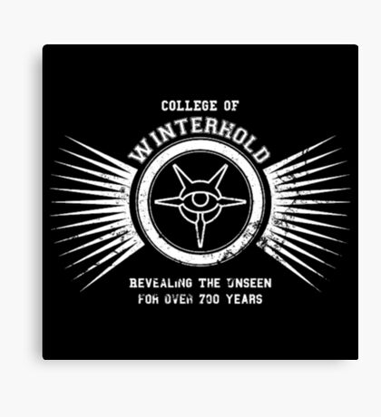 College of Winterhold Logo Design Canvas Print