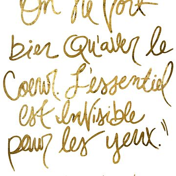 The Little Prince quote, gold by TandJart