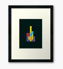 8-bit Tetris (v1) Framed Print