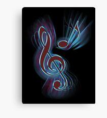 Abstract music symbols. Canvas Print