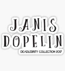 Janis Dopelin-Deadlebrity collection 2017 Sticker