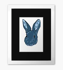 Dr. Squishems the pattern eared bunny Framed Print