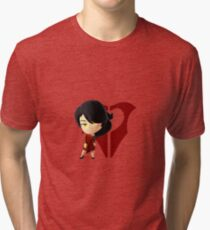 Chibi Cinder Fall & Emblem Tri-blend T-Shirt