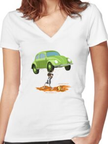 Herculeesa Action! Isolated Women's Fitted V-Neck T-Shirt