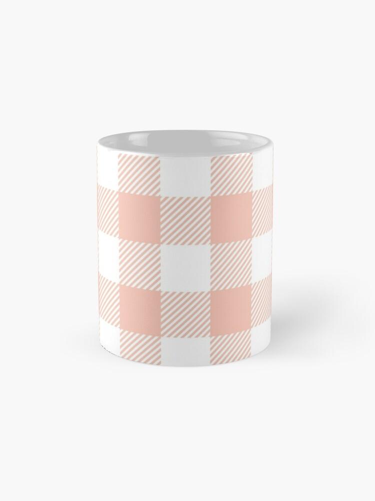 Alternate view of Apricot / Apricot Plaid Pattern Mugs