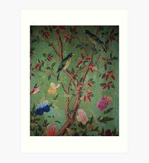 Green Dream Chinoiserie Art Print
