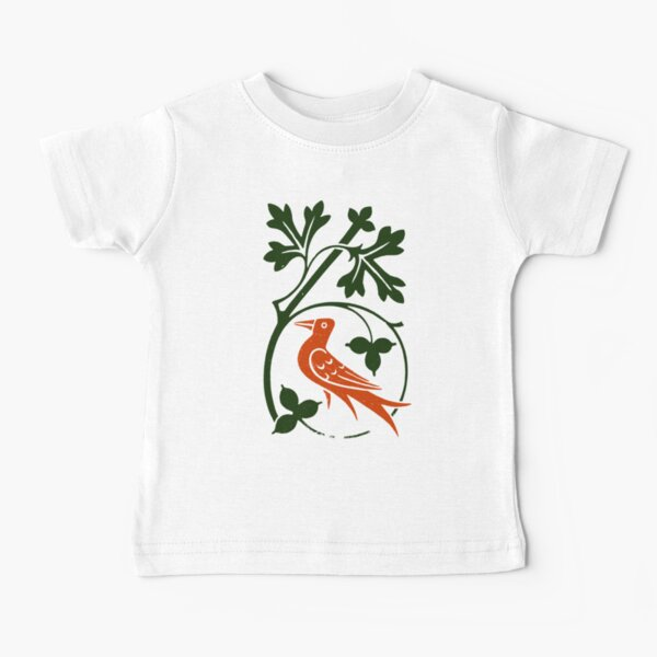 Woodcut birds Baby T-Shirt