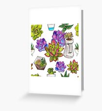 Succulent pattern #4 Greeting Card