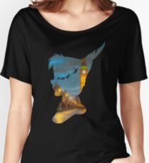 Peter Pan Over London  Women's Relaxed Fit T-Shirt