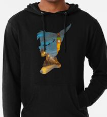 Peter Pan Over London  Lightweight Hoodie
