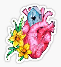 Spring is in the heart Sticker