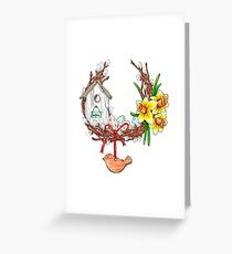 Easter wreath Greeting Card