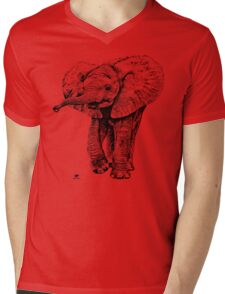 Irresistible Baby Elephant | African Wildlife Mens V-Neck T-Shirt