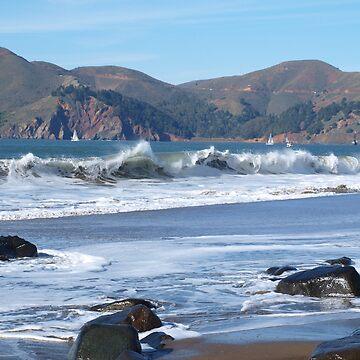 Crisp San Francisco Waves by photoartful