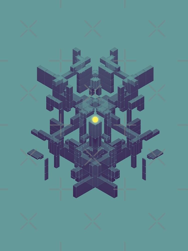 Beautiful Symmetry blue version by XOXOX