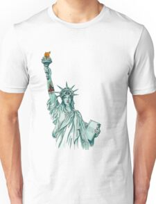 Tattooed Lady Liberty Unisex T-Shirt