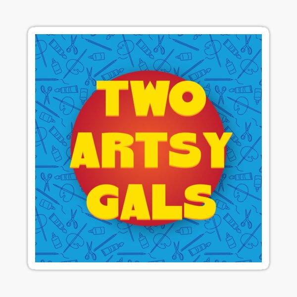 Two Artsy Gals Logo Gear Sticker