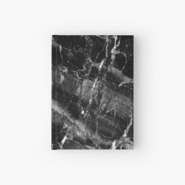 Black monolite Marble Hardcover Journal