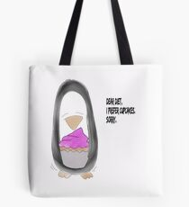 Percy Penguin: dear diet - I prefer cupcakes Tote Bag