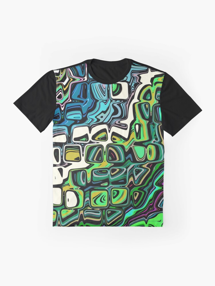 Alternate view of Abstract Blocks of Color Graphic T-Shirt