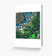 Abstract Blocks of Color Greeting Card