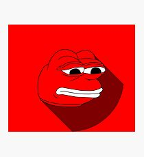 Pepe Material Red Fanart Photographic Print