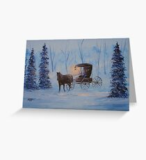 Carrage Ride Home Greeting Card