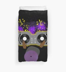 Purple DJ Spinning Duvet Cover