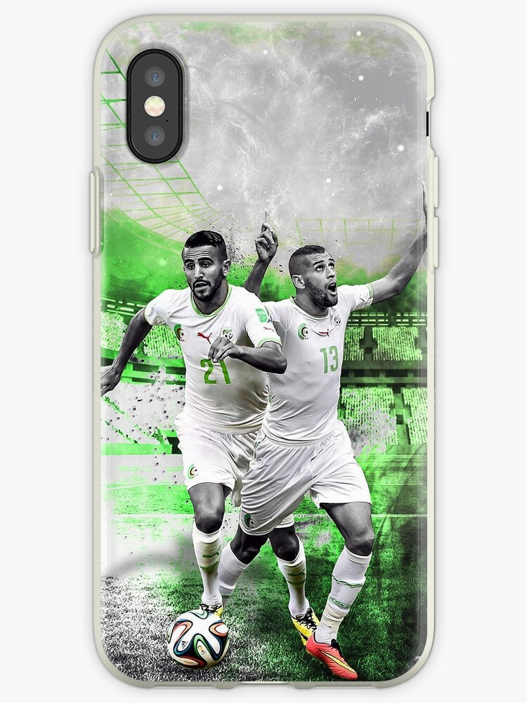 best service 1ae49 28fa2 'Riyad Mahrez & Islam Slimani Phone Case' iPhone Case by RobSpink